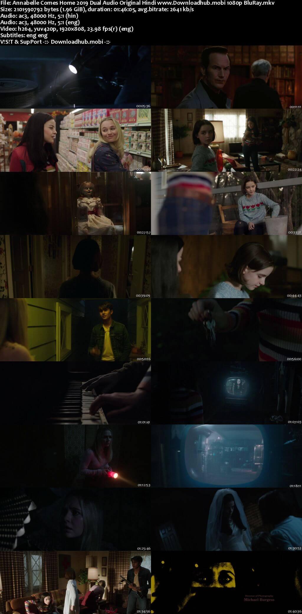 Annabelle Comes Home 2019 Hindi ORG Dual Audio 1080p BluRay ESubs