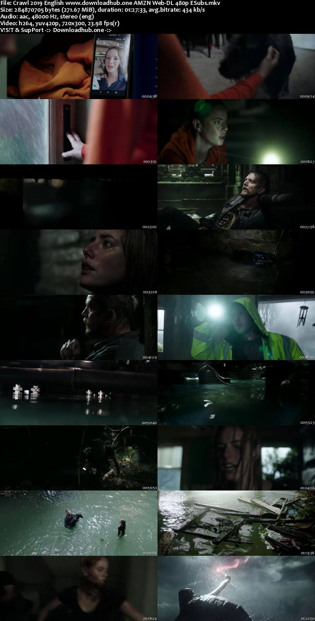 Crawl 2019 English 250MB AMZN Web-DL 480p ESubs