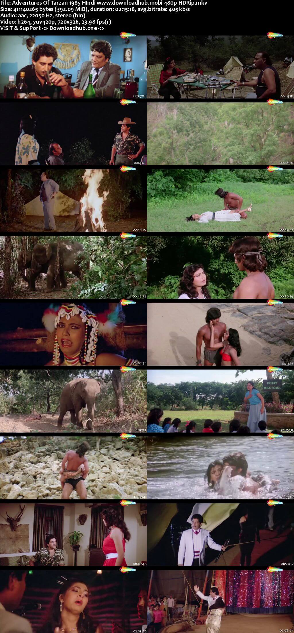 Adventures of Tarzan 1985 Hindi 250MB HDRip 480p