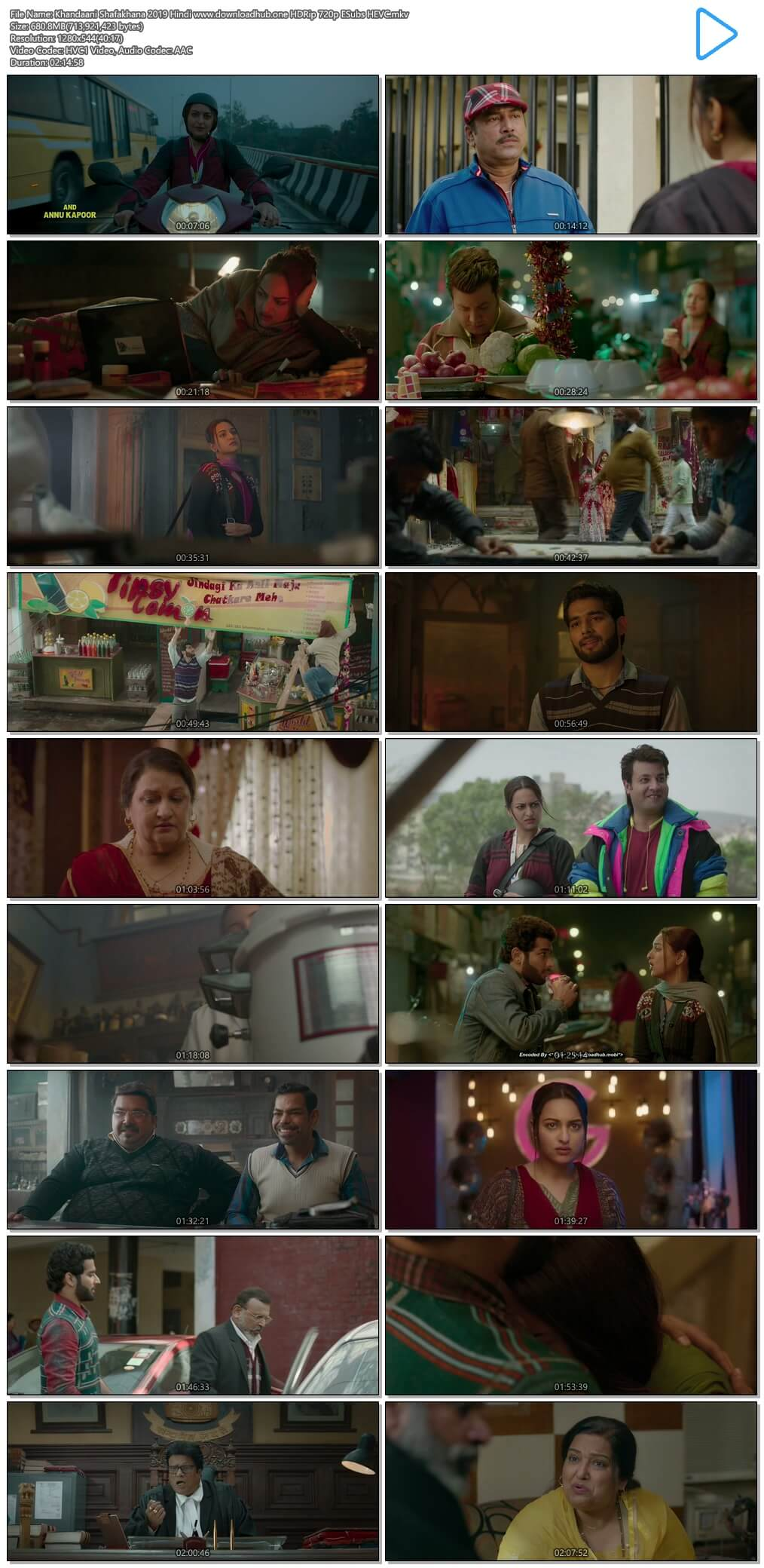Khandaani Shafakhana 2019 Hindi 650MB HDRip 720p ESubs HEVC