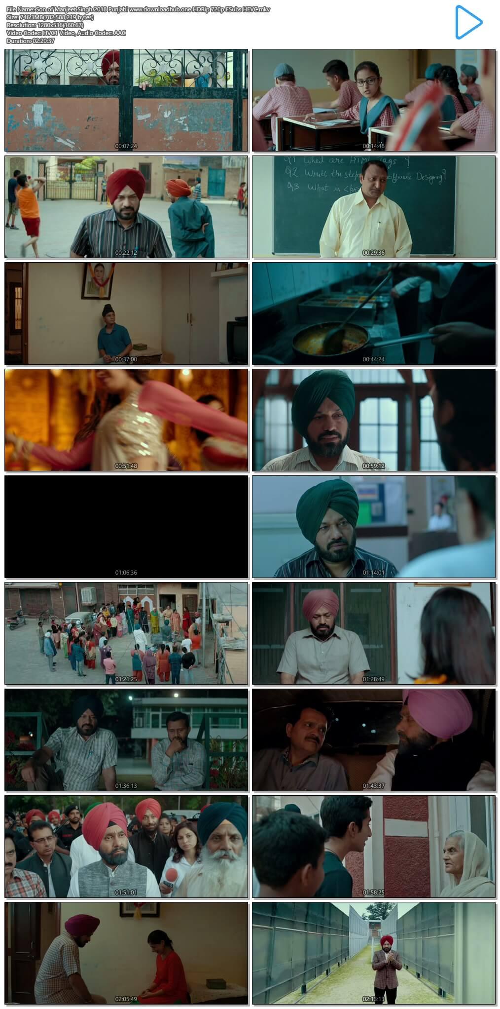 Son of Manjeet Singh 2018 Punjabi 750MB HDRip 720p ESubs HEVC