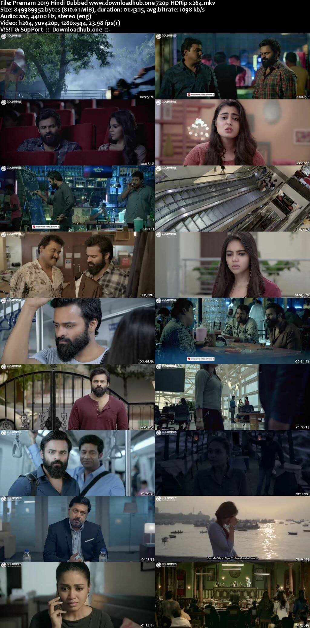 Premam 2019 Hindi Dubbed 720p HDRip x264