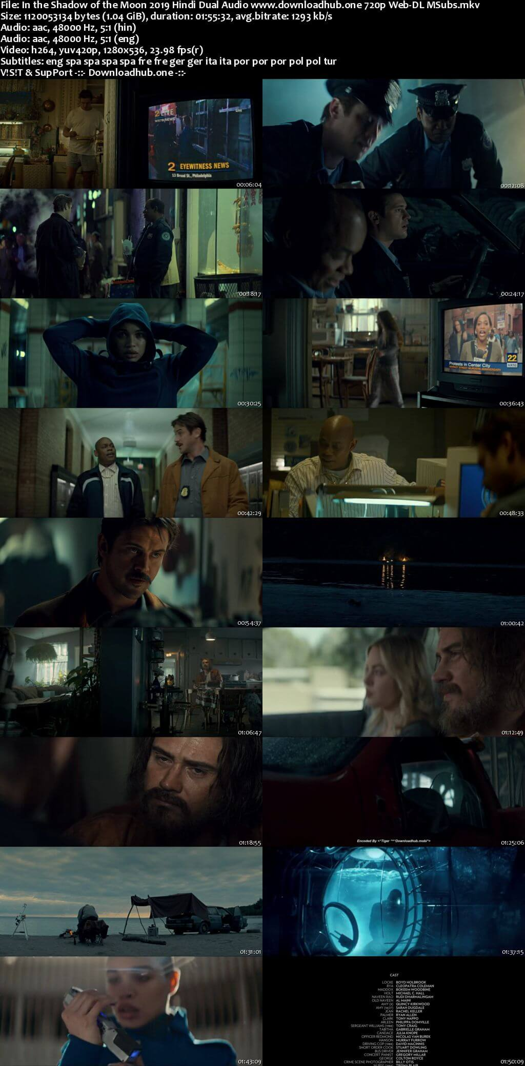 In the Shadow of the Moon 2019 Hindi Dual Audio 720p Web-DL MSubs