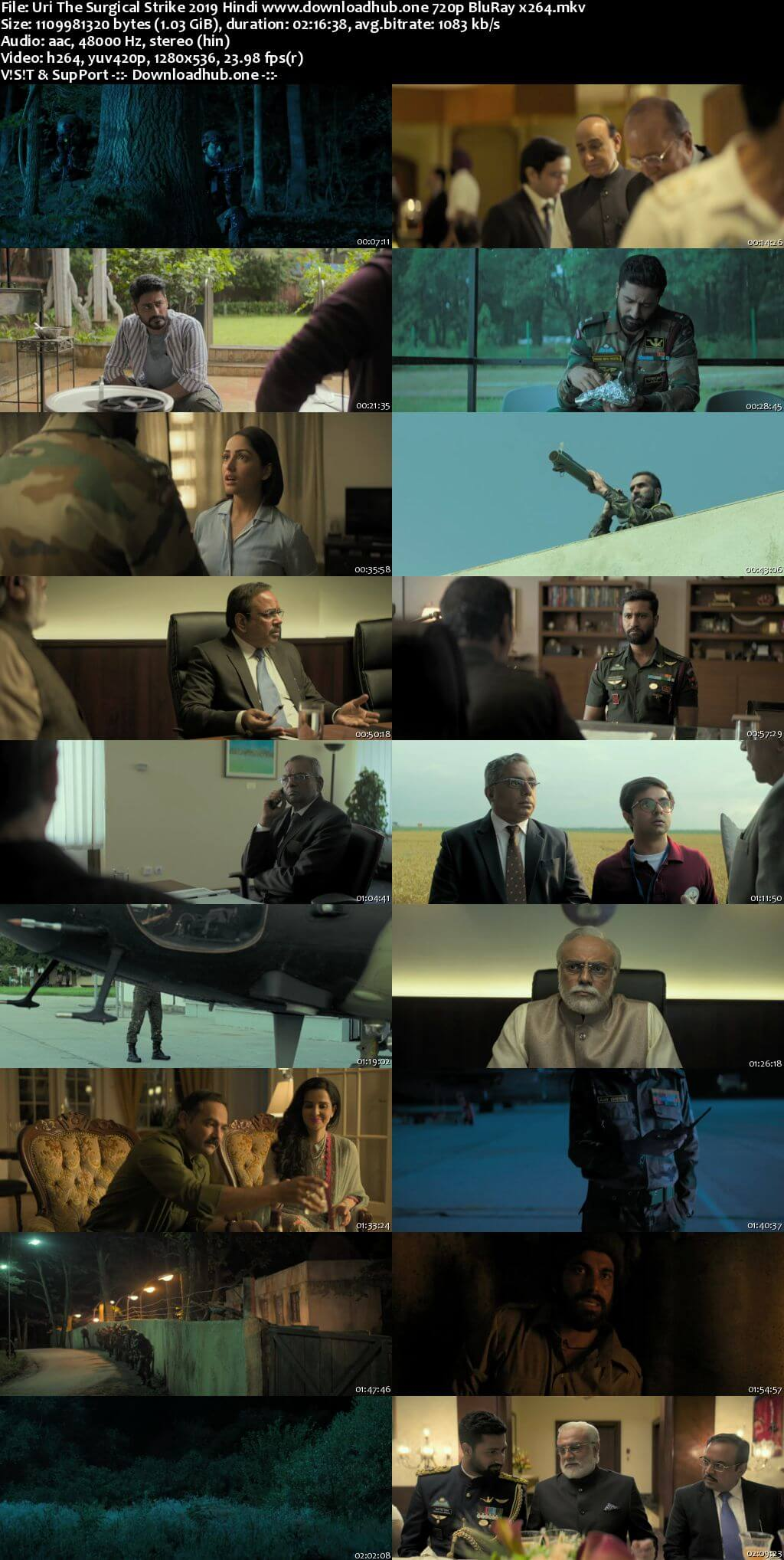 Uri The Surgical Strike 2019 Hindi 720p BluRay x264