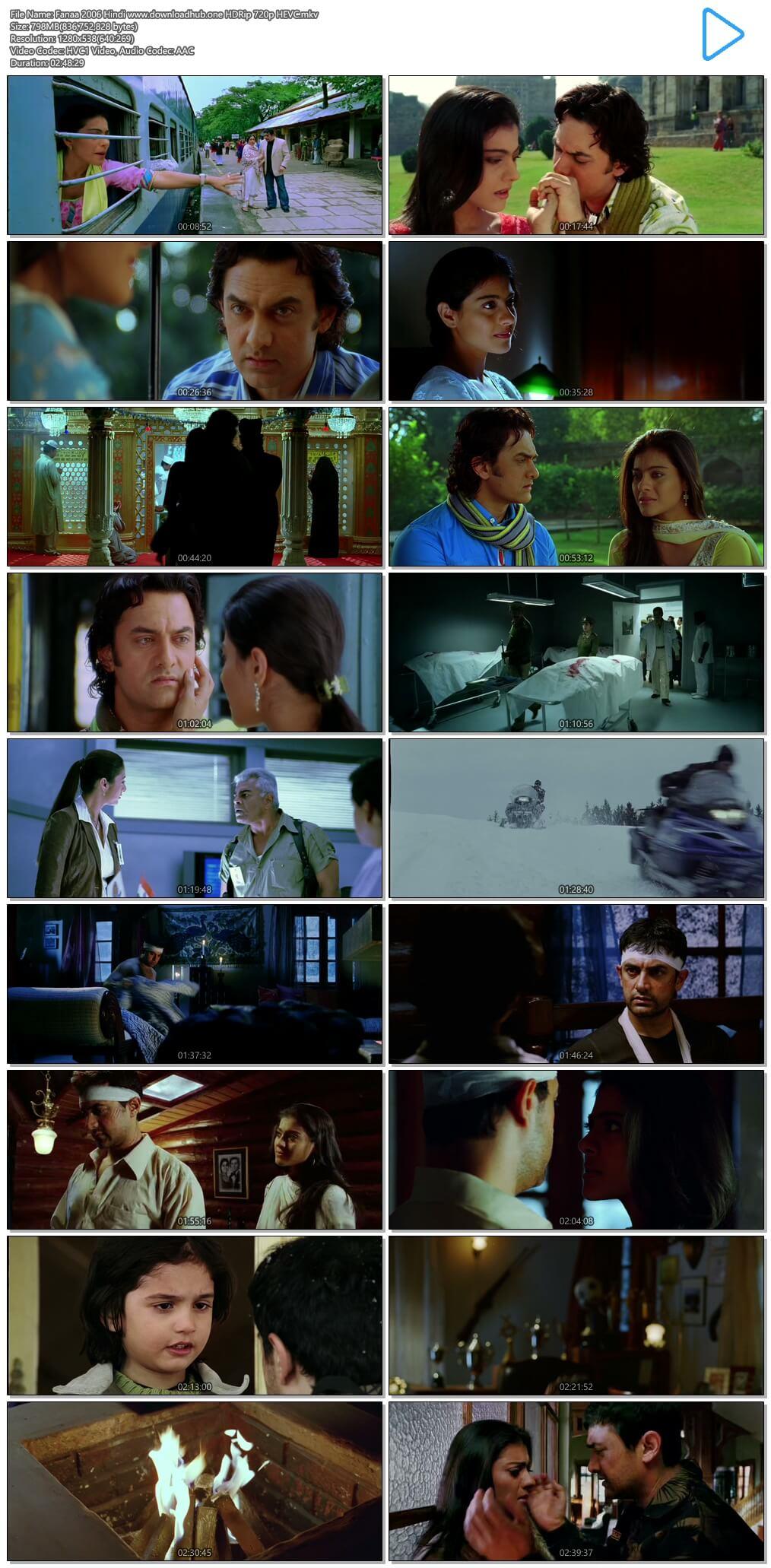 Fanaa 2006 Hindi 800MB HDRip 720p HEVC
