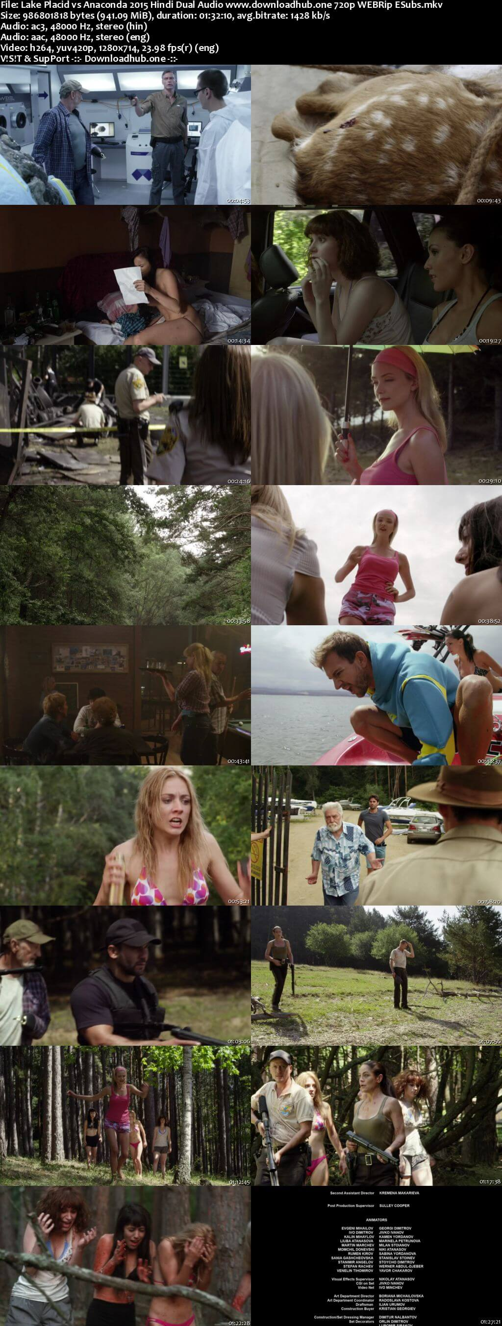 Lake Placid vs Anaconda 2015 Hindi Dual Audio 720p WEBRip ESubs