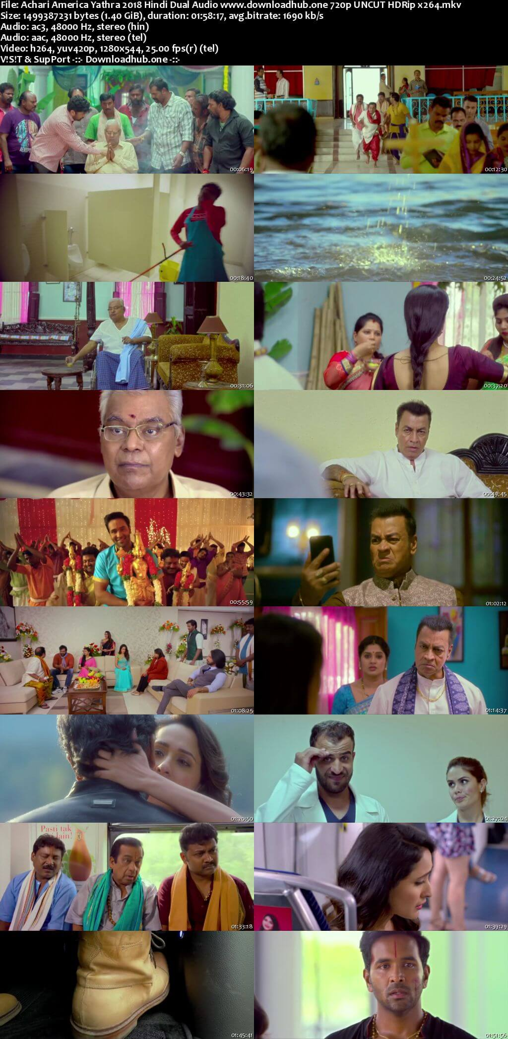 Achari America Yathra 2018 Hindi Dual Audio 720p UNCUT HDRip x264