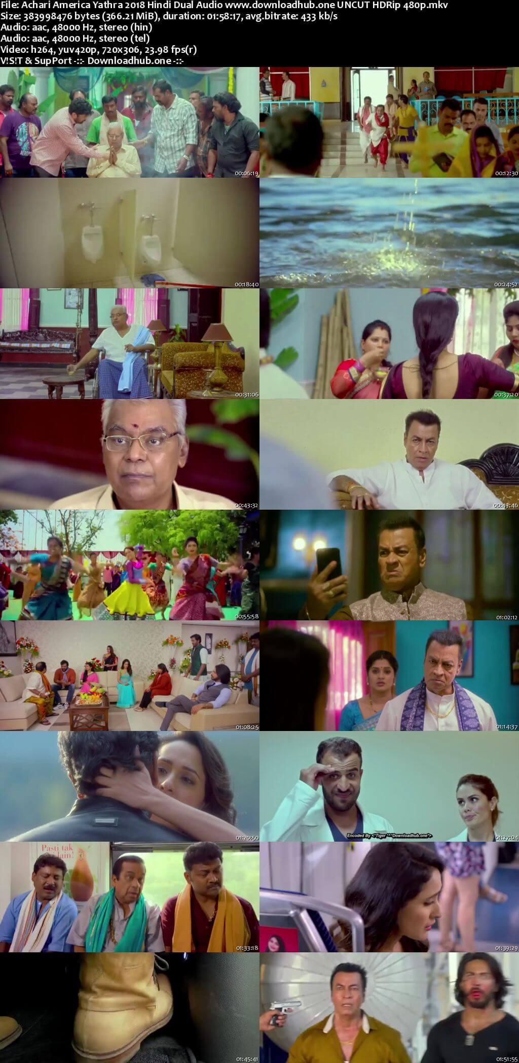 Achari America Yathra 2018 Hindi Dual Audio 350MB UNCUT HDRip 480p