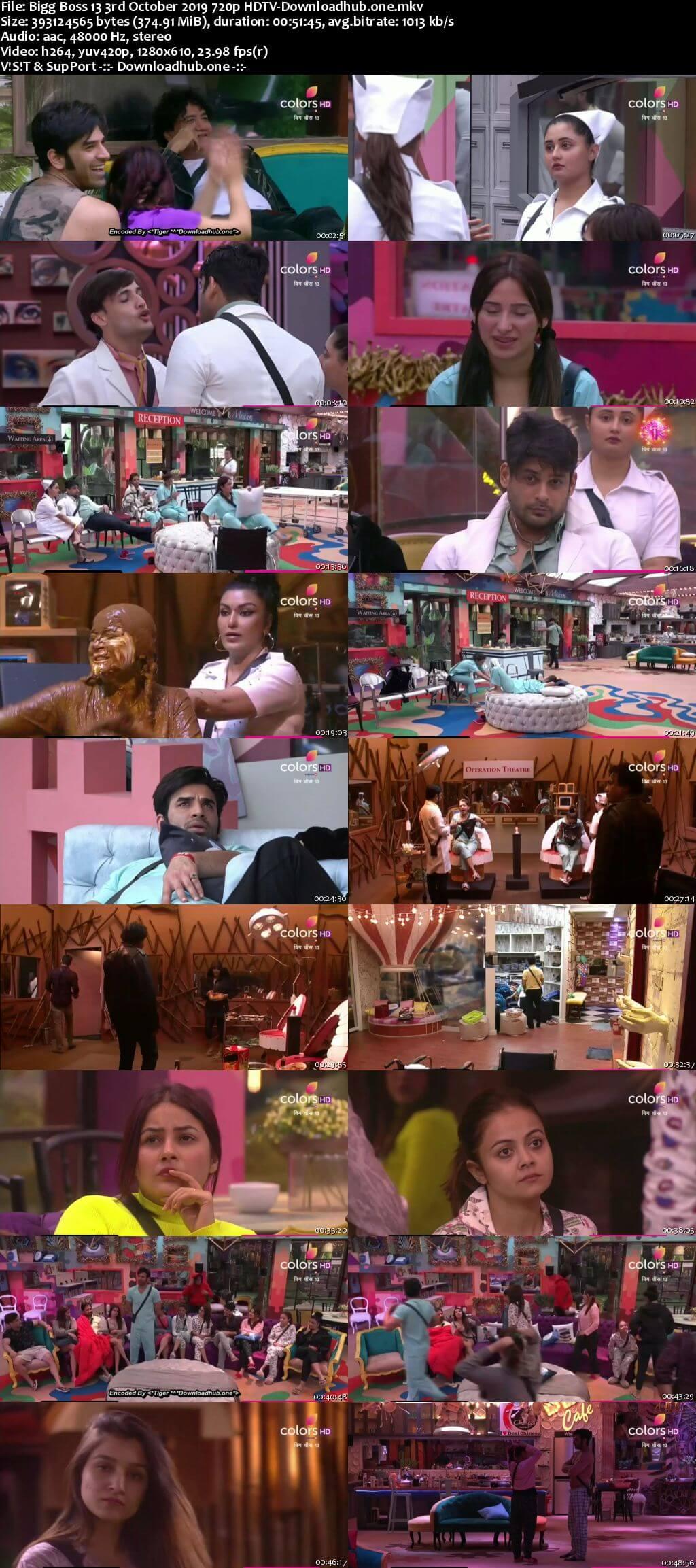 Bigg Boss 13 03 October 2019 Episode 04 HDTV 720p 480p
