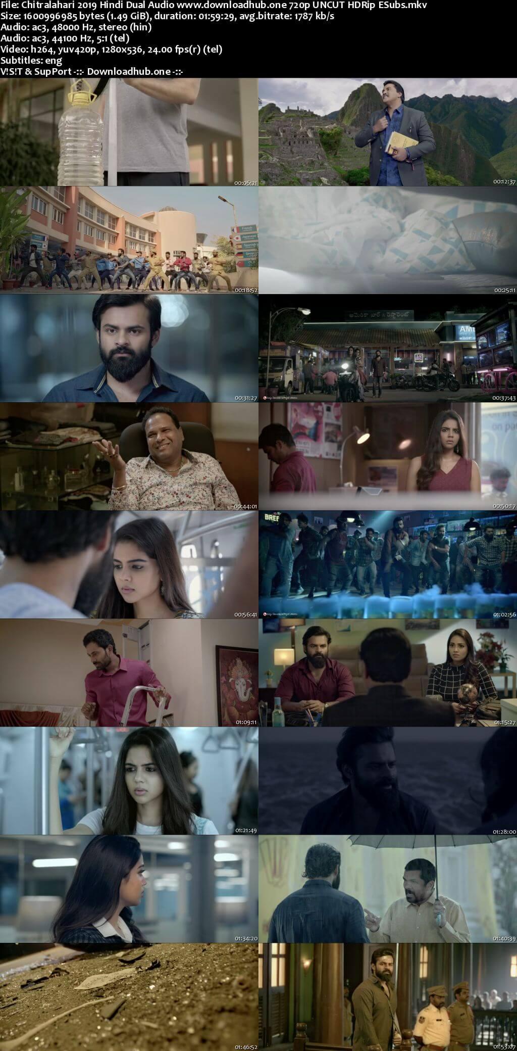 Chitralahari 2019 Hindi Dual Audio 720p UNCUT HDRip ESubs