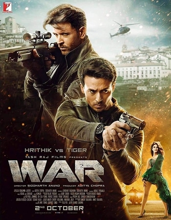 War 2019 Hindi 850MB BluRay 720p ESubs HEVC