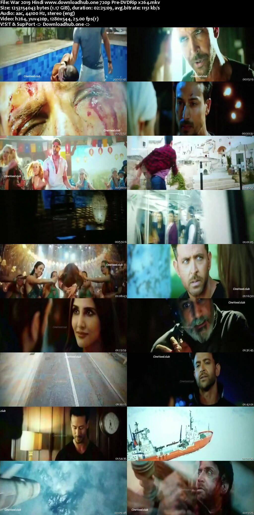 War 2019 Hindi 720p Pre-DVDRip x264