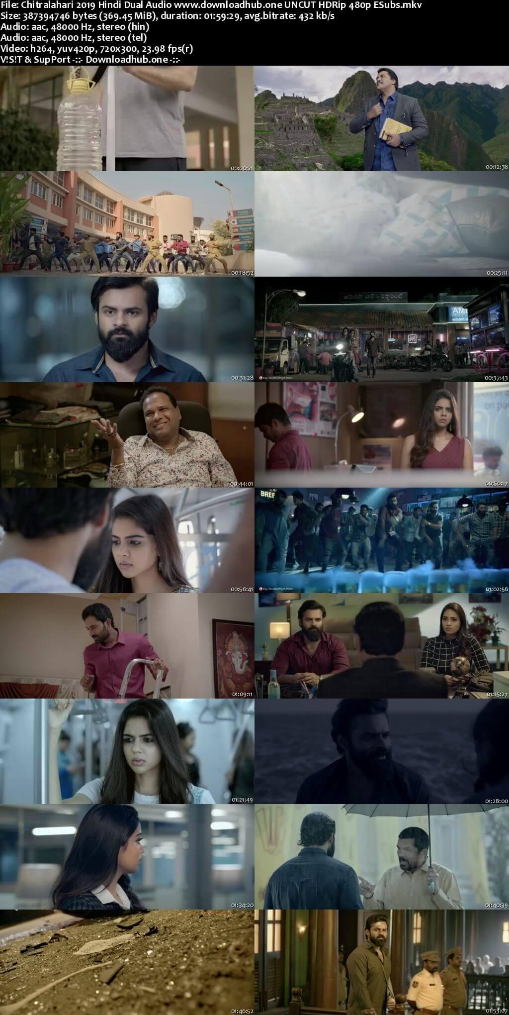 Chitralahari 2019 Hindi Dual Audio 350MB UNCUT HDRip 480p ESubs
