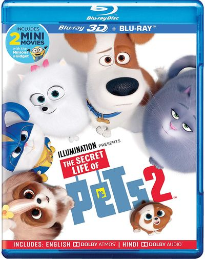 Poster of The Secret Life of Pets 2 2019 Full Hindi Dual Audio Movie Download BluRay 720p