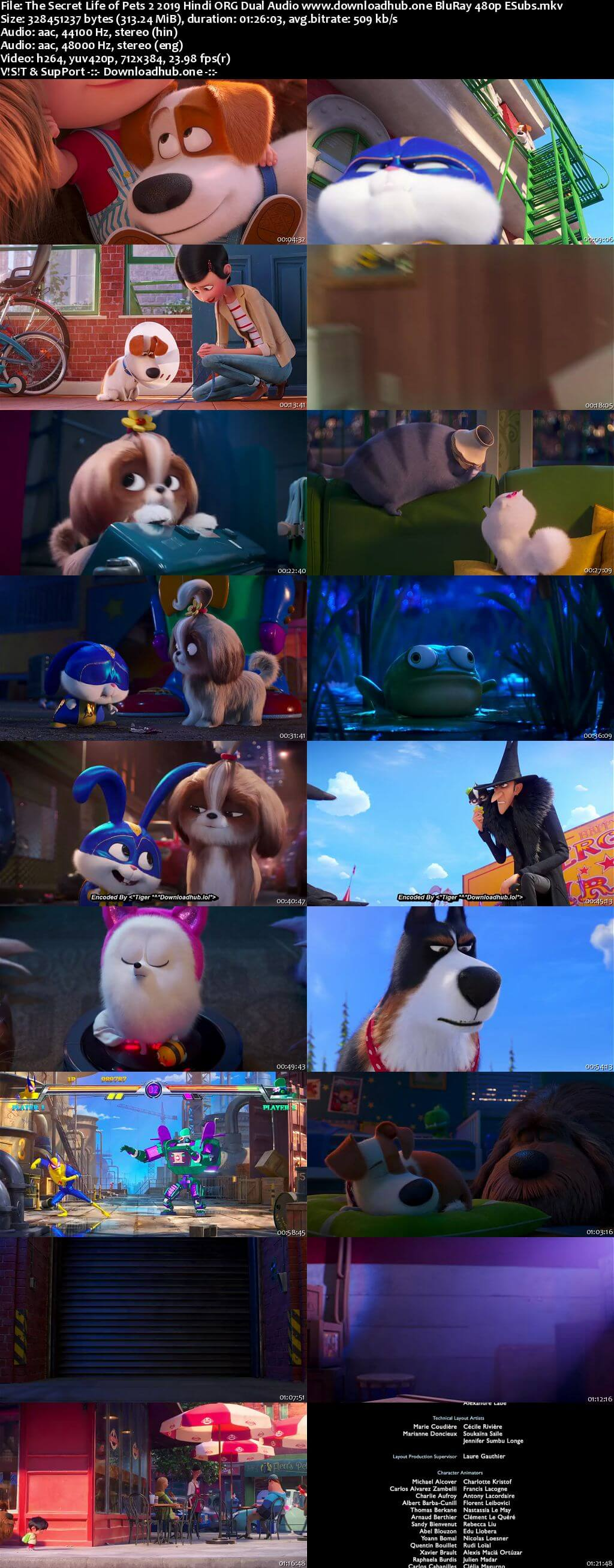 The Secret Life of Pets 2 2019 Hindi ORG Dual Audio 300MB BluRay 480p ESubs