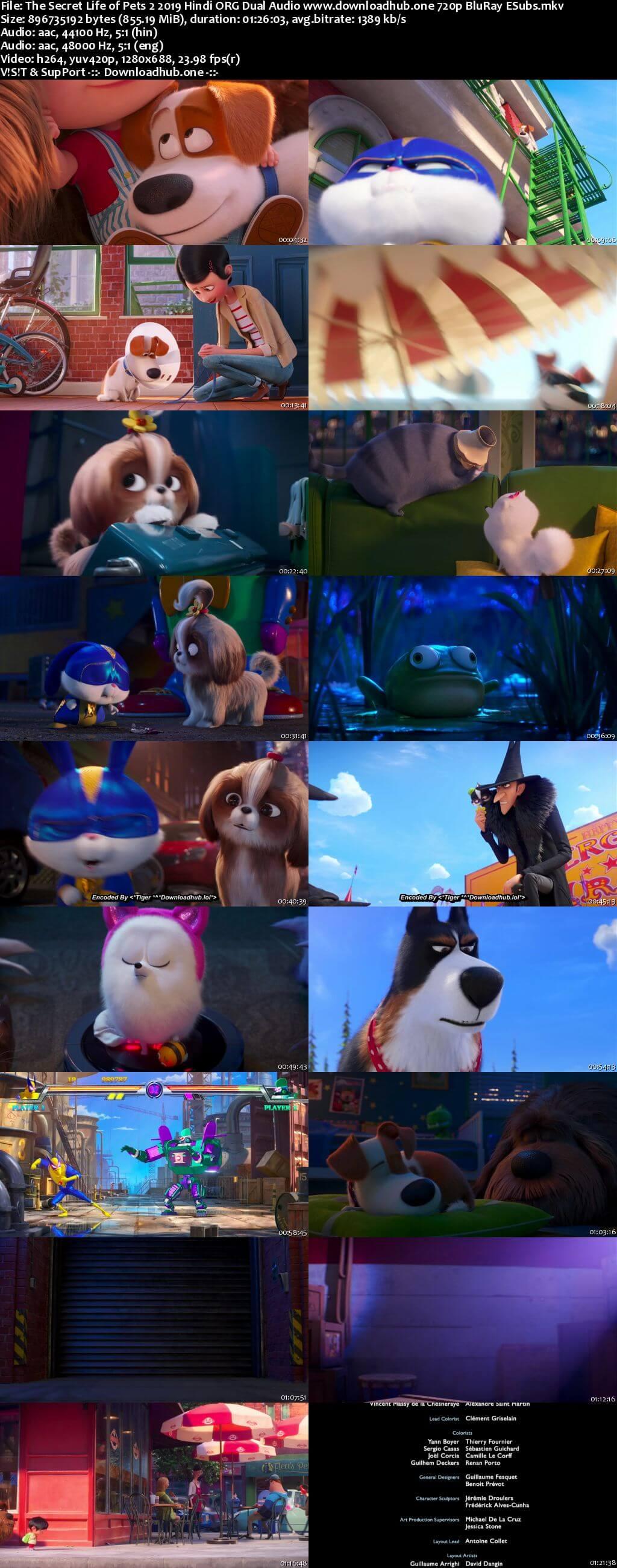 The Secret Life of Pets 2 2019 Hindi ORG Dual Audio 720p BluRay ESubs