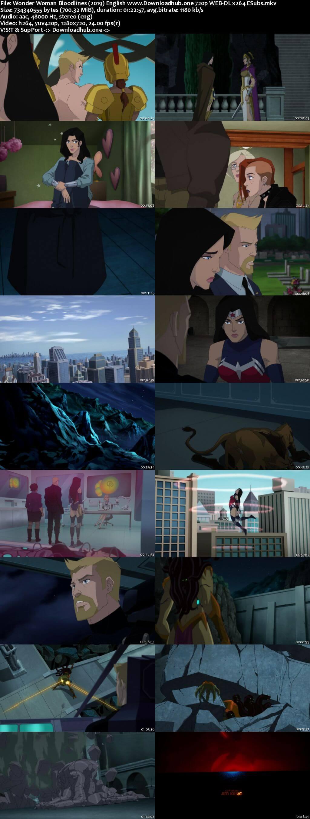 Wonder Woman Bloodlines 2019 English 720p Web-DL 700MB ESubs