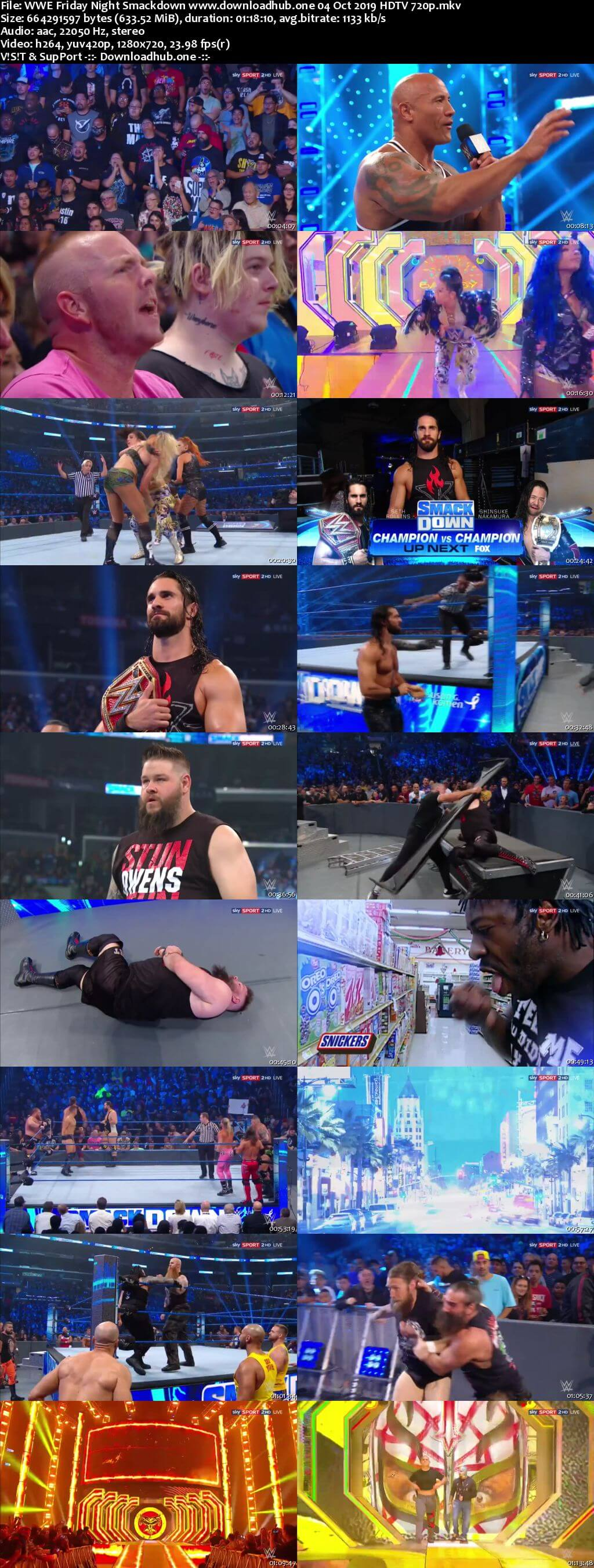 WWE Friday Night Smackdown 4th October 2019 720p 300MB HDTV 480p