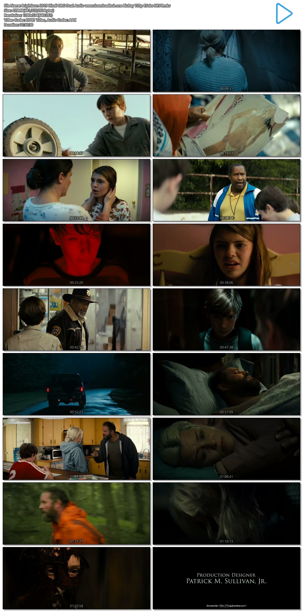 Brightburn 2019 Hindi ORG Dual Audio 450MB BluRay 720p ESubs HEVC