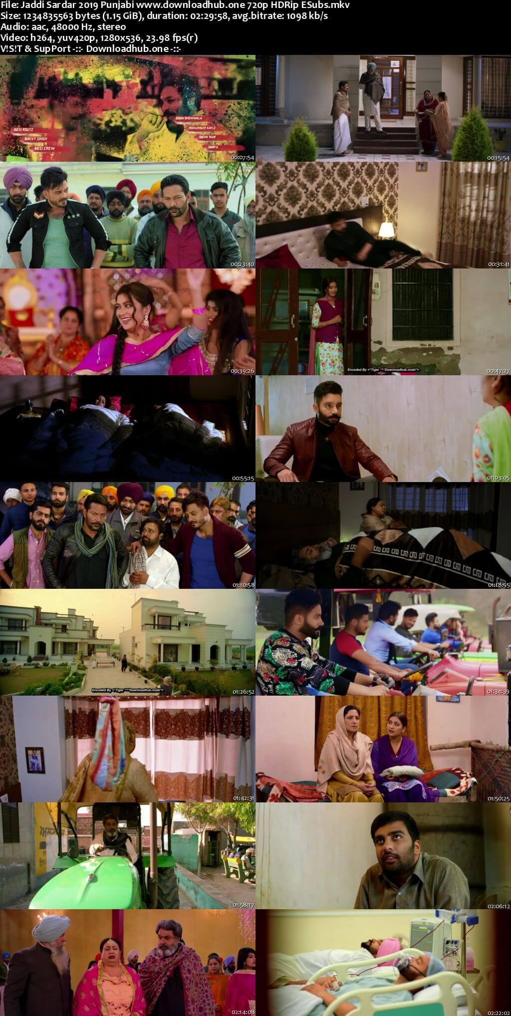 Jaddi Sardar 2019 Punjabi 720p HDRip ESubs