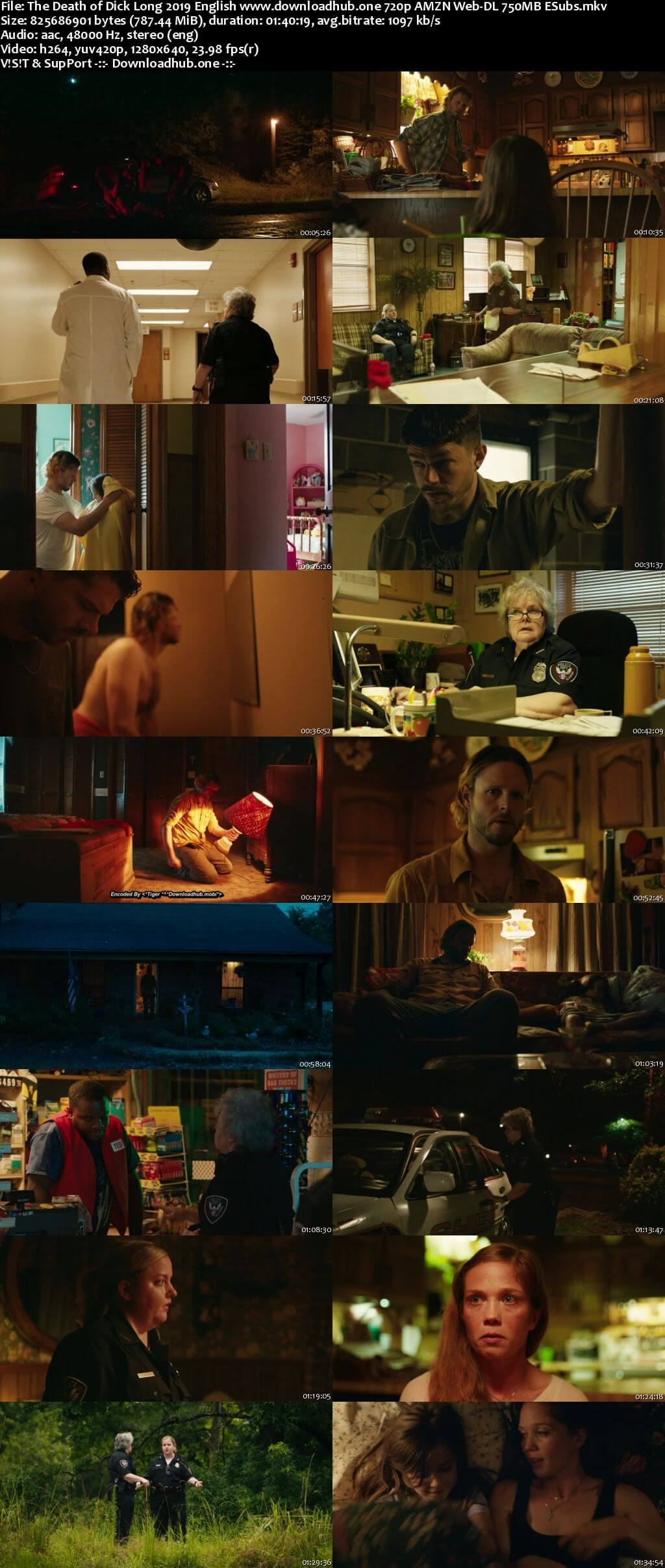 The Death of Dick Long 2019 English 720p AMZN Web-DL 750MB ESubs