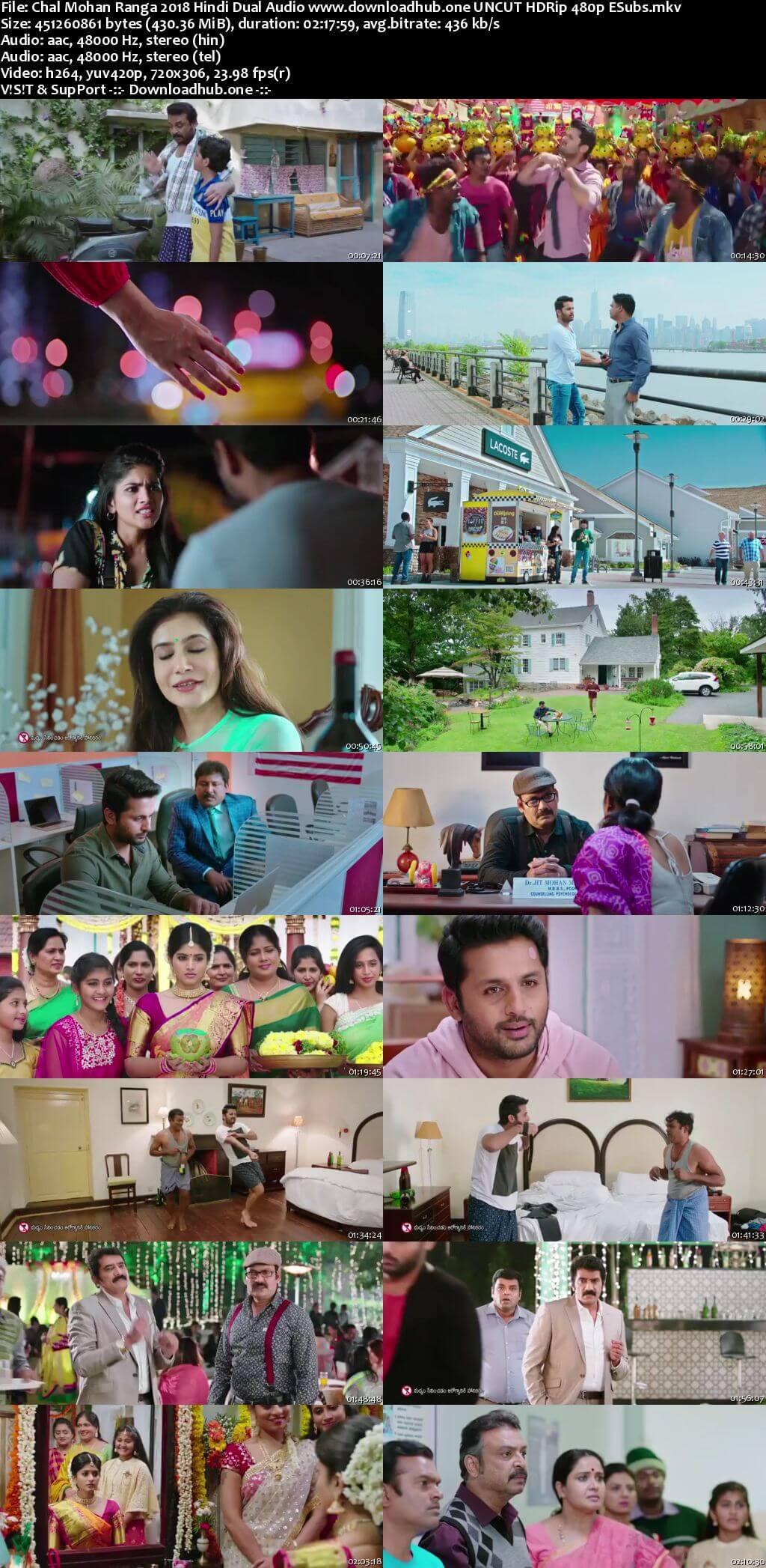 Chal Mohan Ranga 2018 Hindi Dual Audio 400MB UNCUT HDRip 480p ESubs