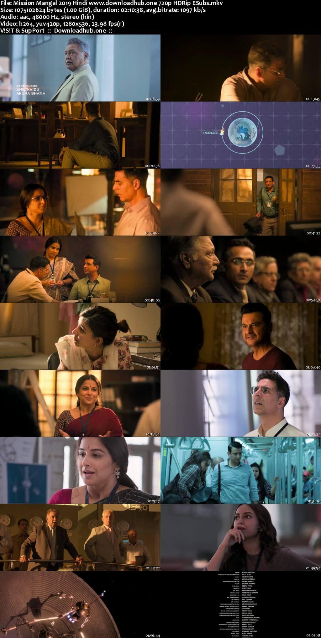 Mission Mangal 2019 Hindi 720p HDRip ESubs