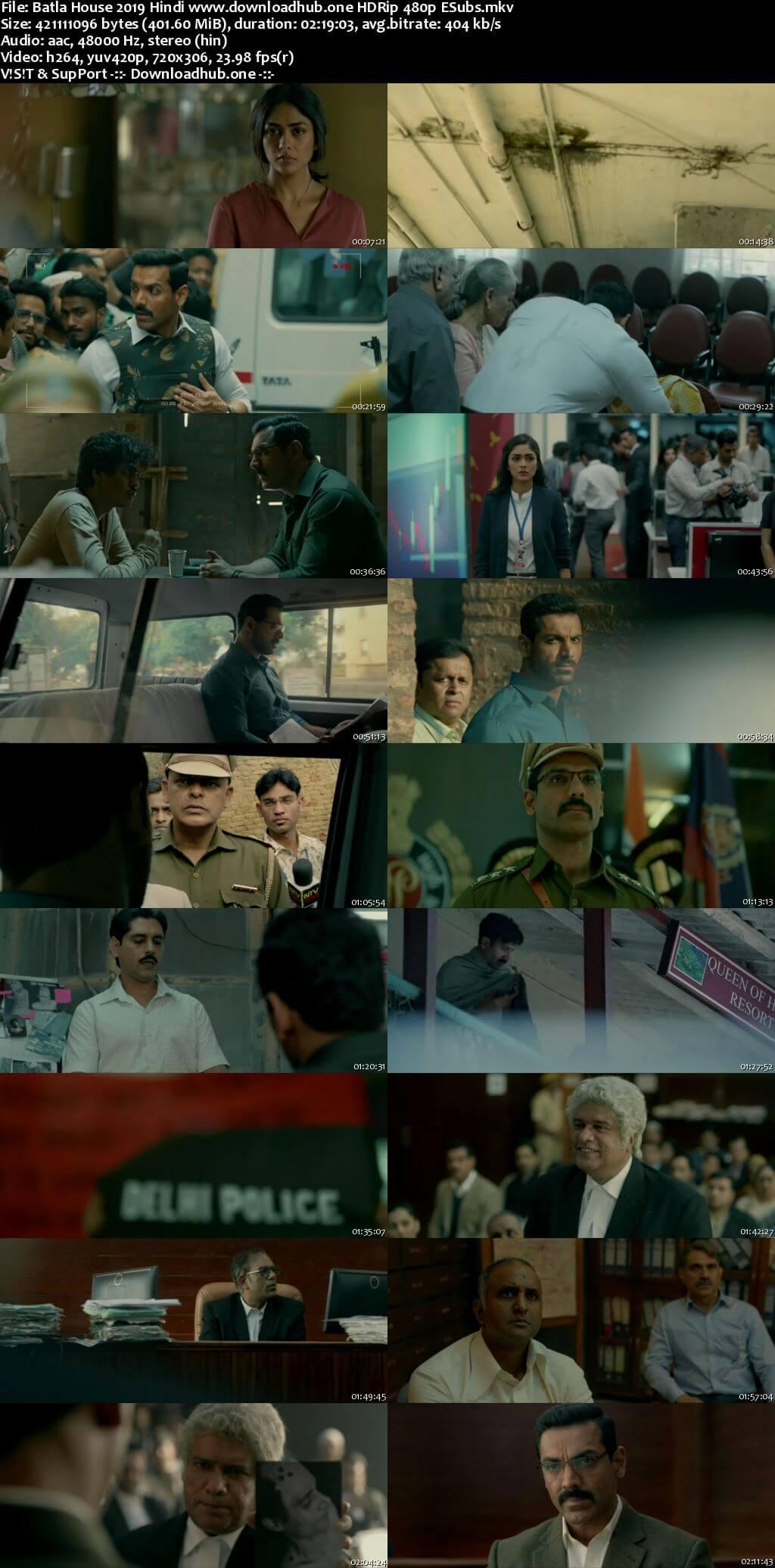 Batla House 2019 Hindi 400MB HDRip 480p ESubs