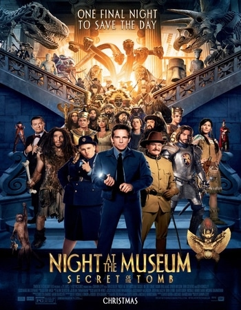 Night at the Museum Secret of the Tomb 2014 Hindi Dual Audio 450MB BluRay 720p ESubs HEVC
