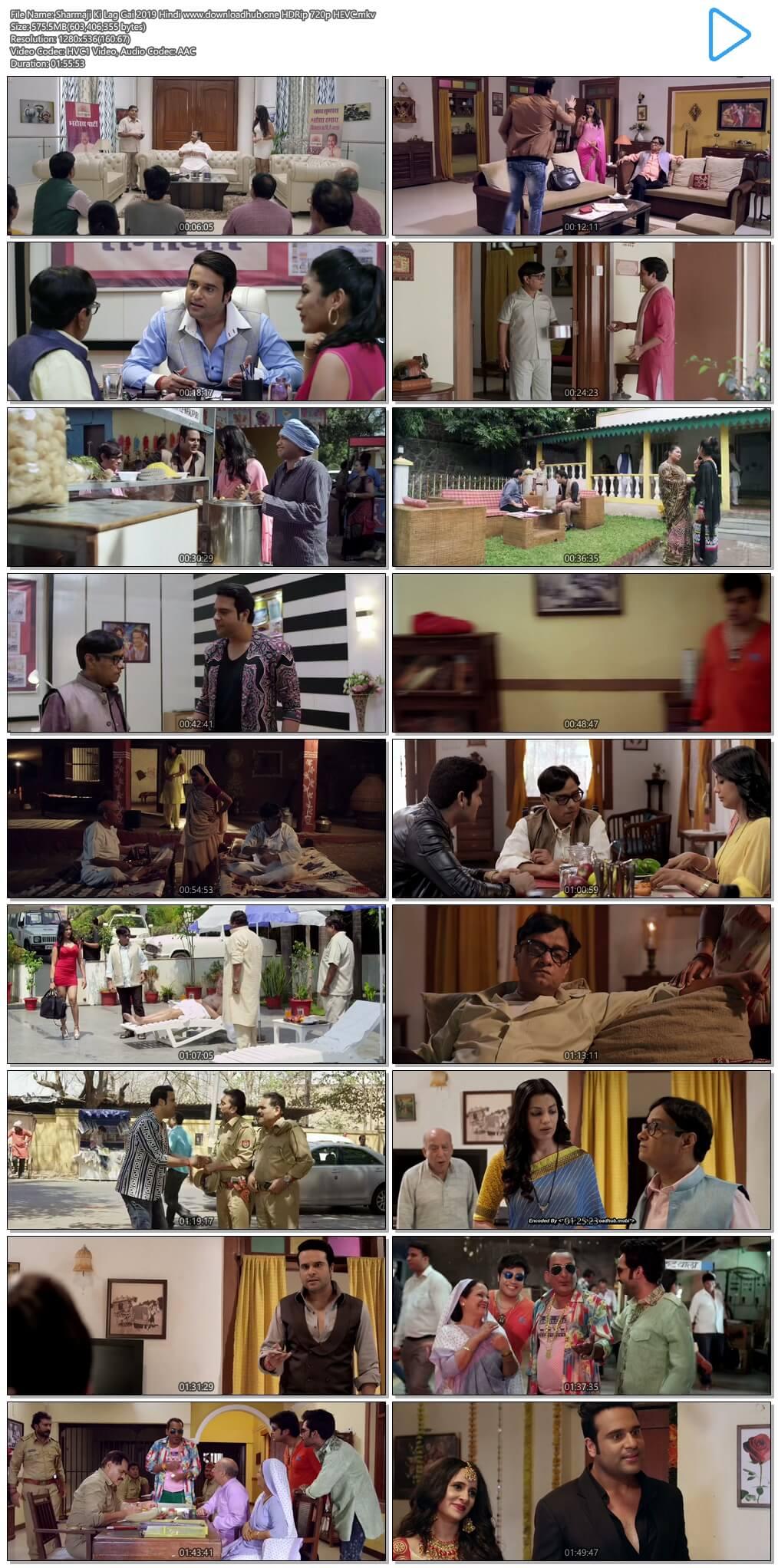 Sharmaji Ki Lag Gai 2019 Hindi 550MB HDRip 720p HEVC