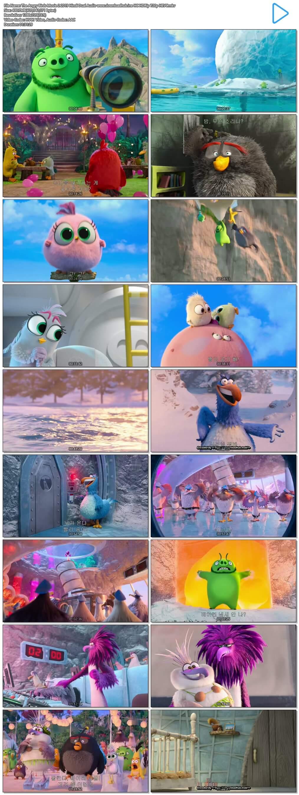 The Angry Birds Movie 2 2019 Hindi Dual Audio 400MB HC HDRip 720p HEVC