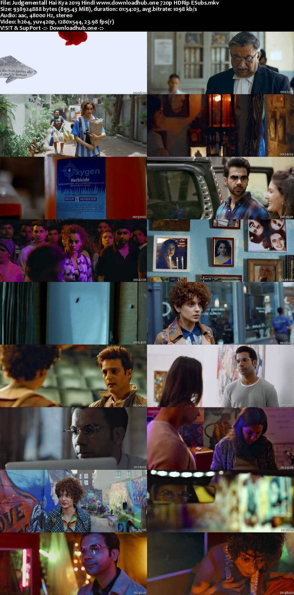Judgementall Hai Kya 2019 Hindi 720p HDRip ESubs