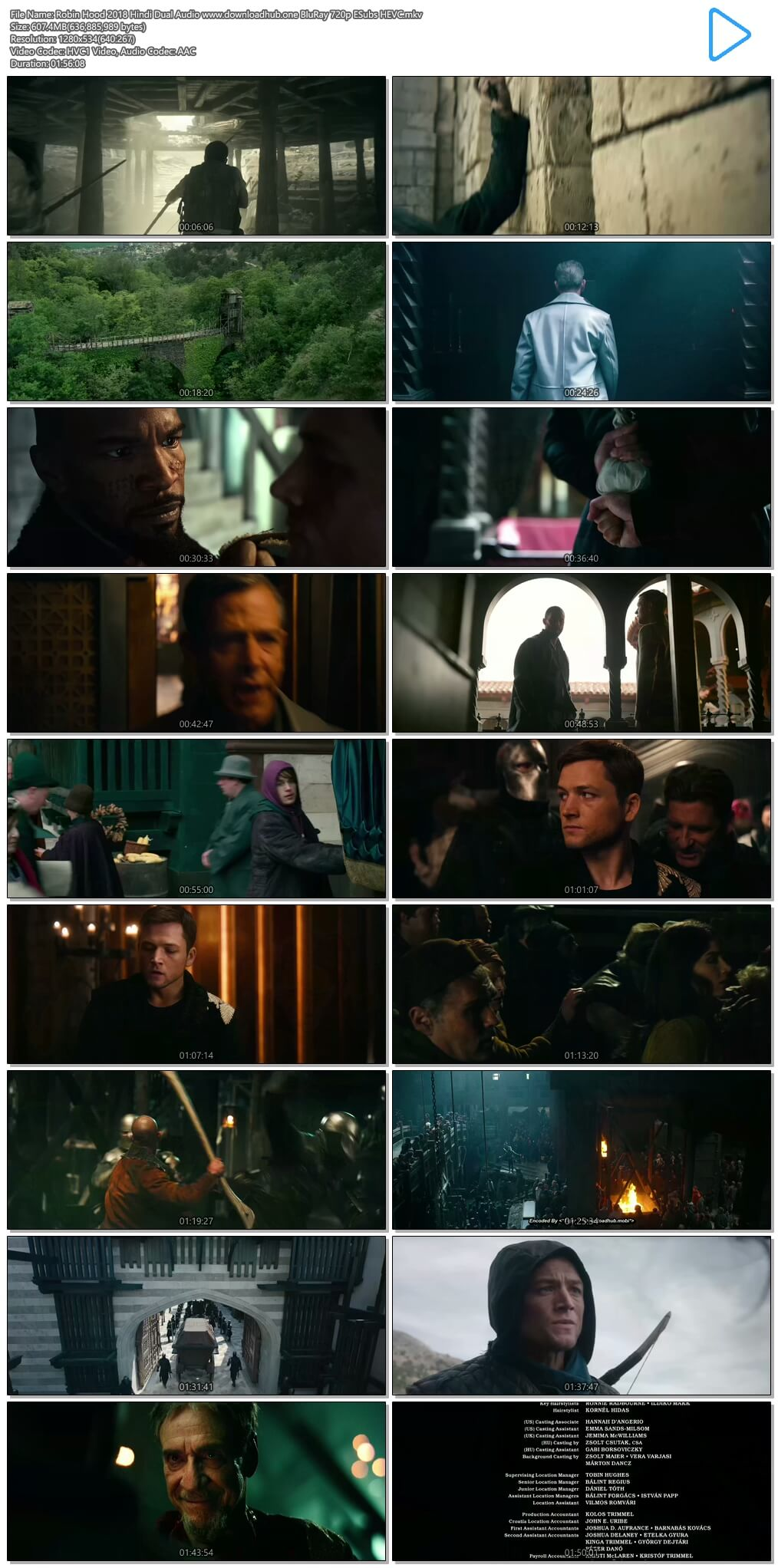 Robin Hood 2018 Hindi Dual Audio 600MB BluRay 720p ESubs HEVC
