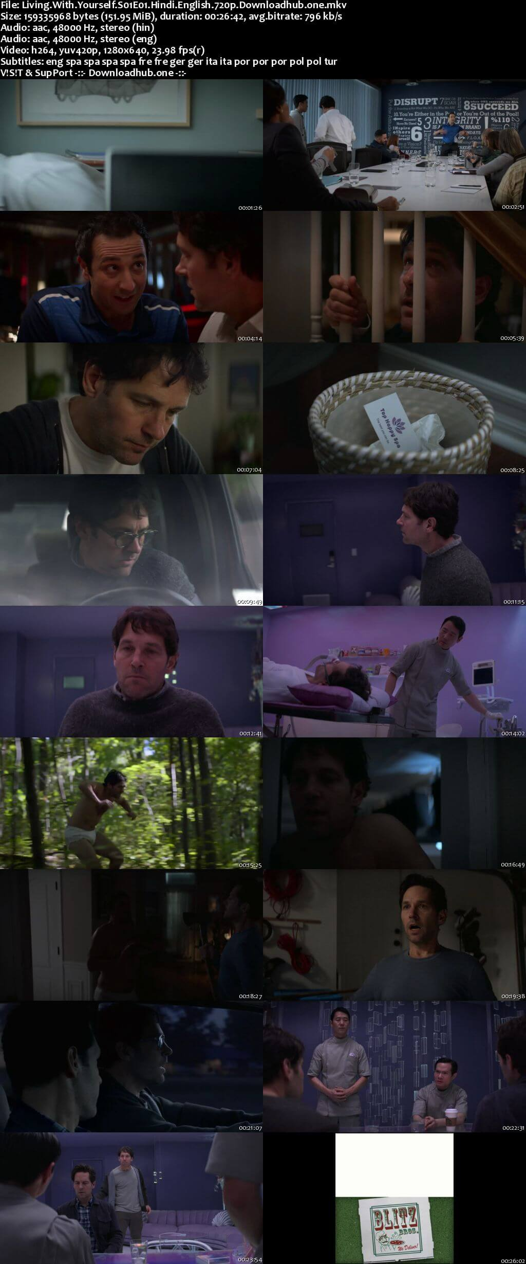 Living with Yourself S01 Complete Hindi Dual Audio 720p Web-DL MSubs