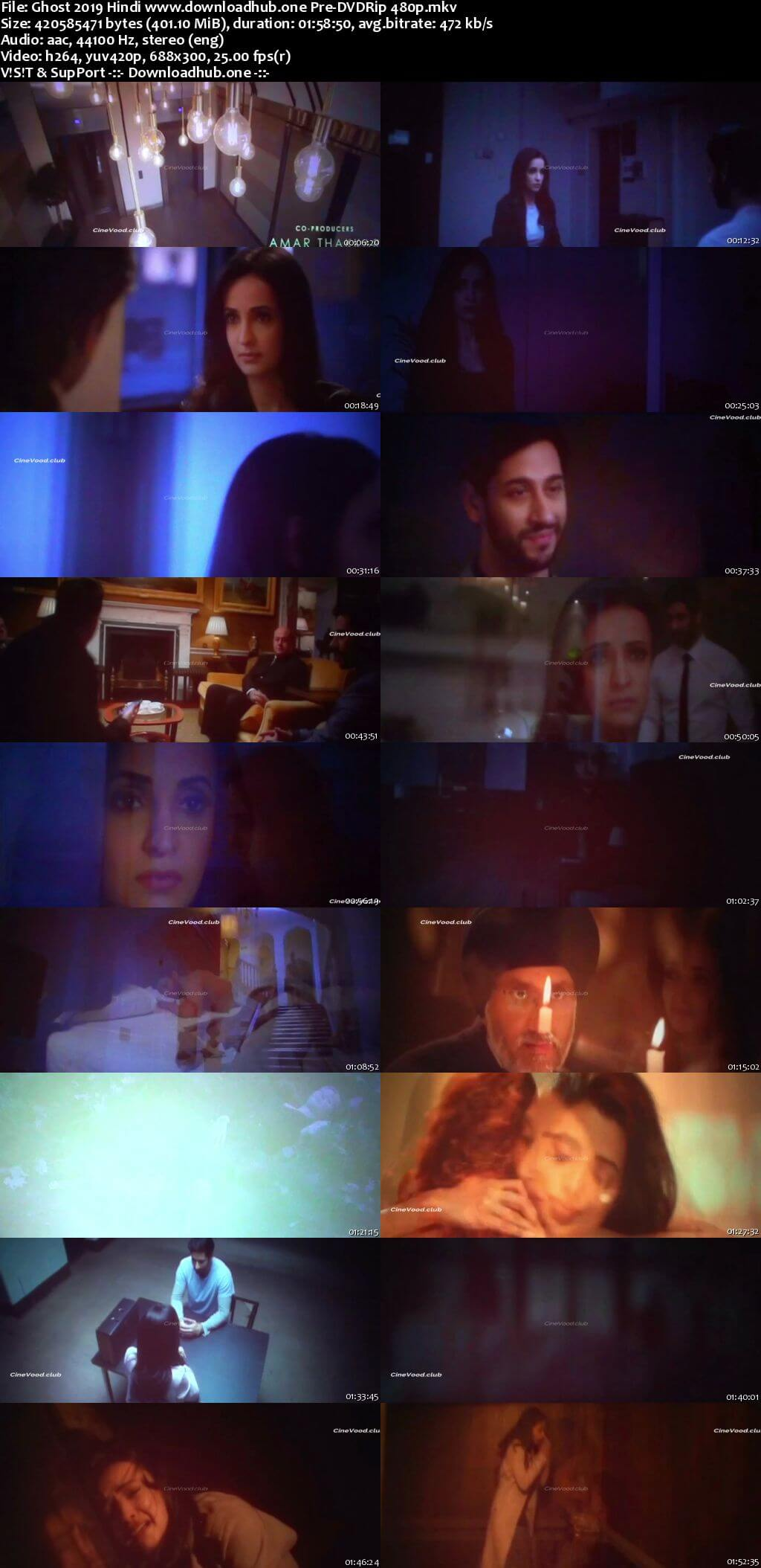 Ghost 2019 Hindi 400MB Pre-DVDRip 480p