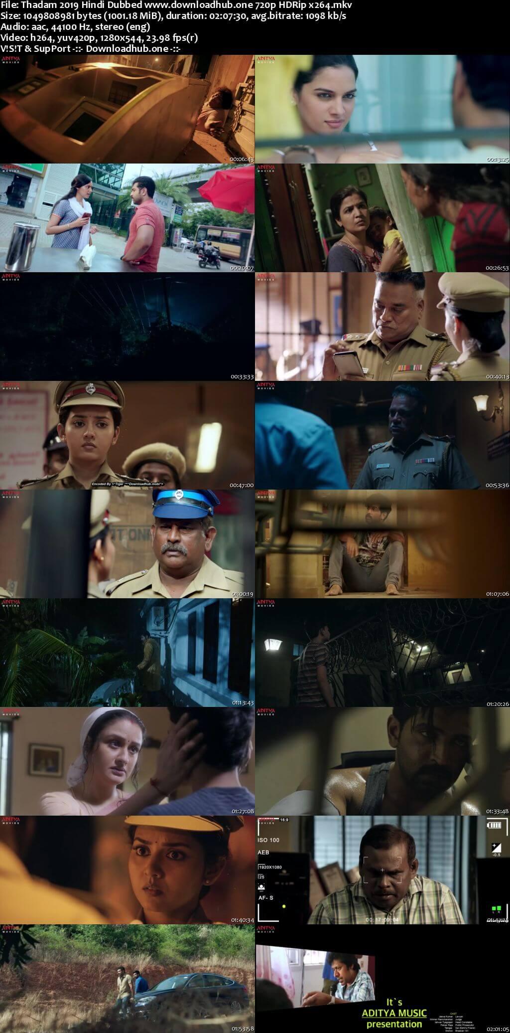 Thadam 2019 Hindi Dubbed 720p HDRip x264