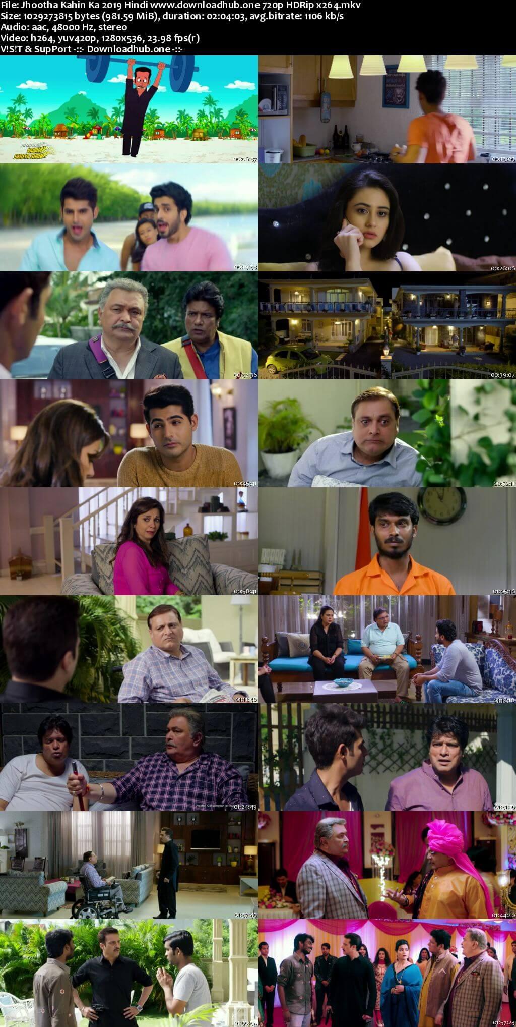 Jhootha Kahin Ka 2019 Hindi 720p HDRip x264