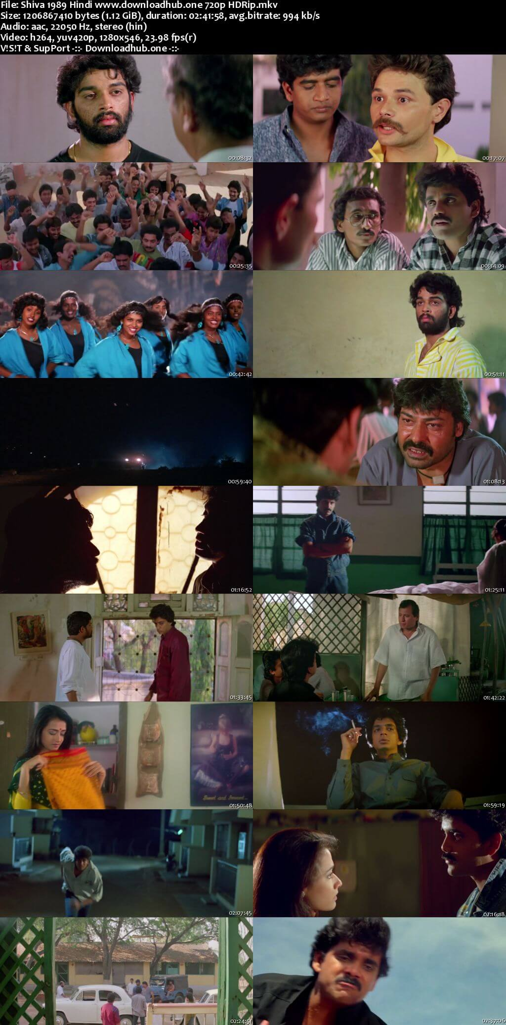 Shiva 1989 Hindi 720p HDRip x264