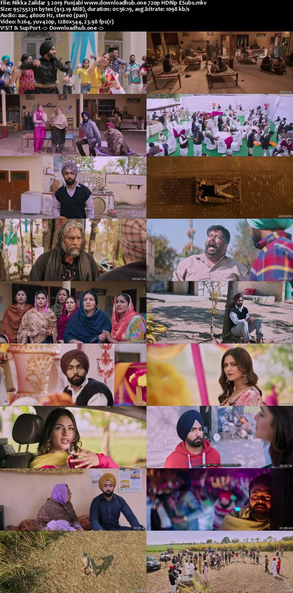 Nikka Zaildar 3 2019 Punjabi 720p HDRip ESubs