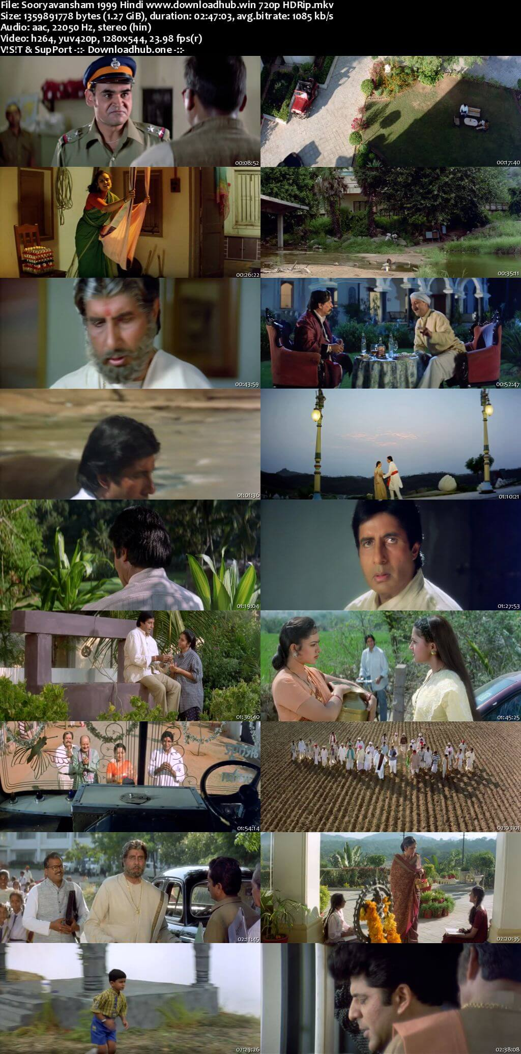 Sooryavansham 1999 Hindi 720p HDRip x264