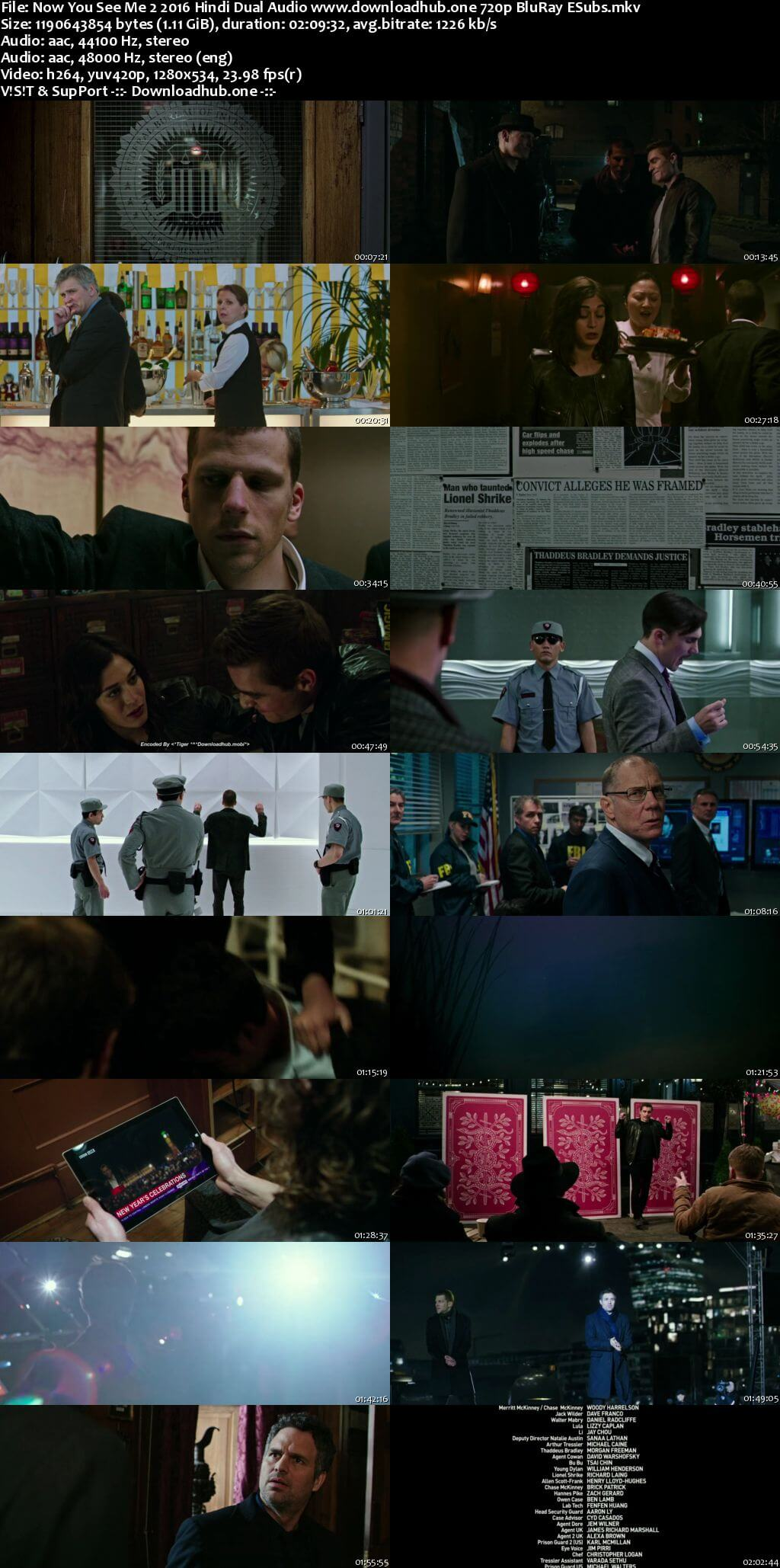 Now You See Me 2 2016 Hindi Dual Audio 720p BluRay ESubs