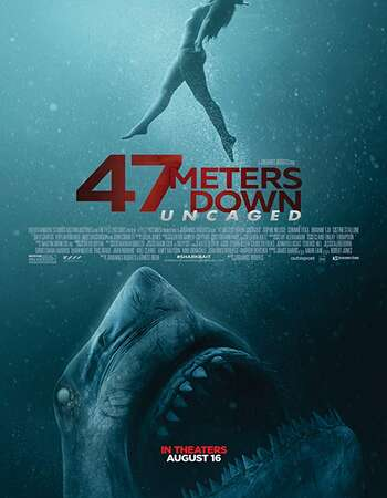 47 Meters Down Uncaged 2019 Hindi ORG Dual Audio 450MB BluRay 720p ESubs HEVC