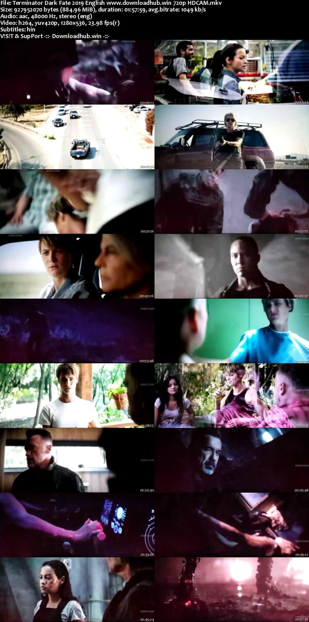 Terminator Dark Fate 2019 English 720p HDCAM Hindi Subs
