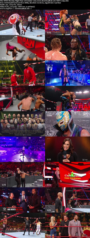 WWE Monday Night Raw 28th October 2019 720p 500MB HDTVRip 480p