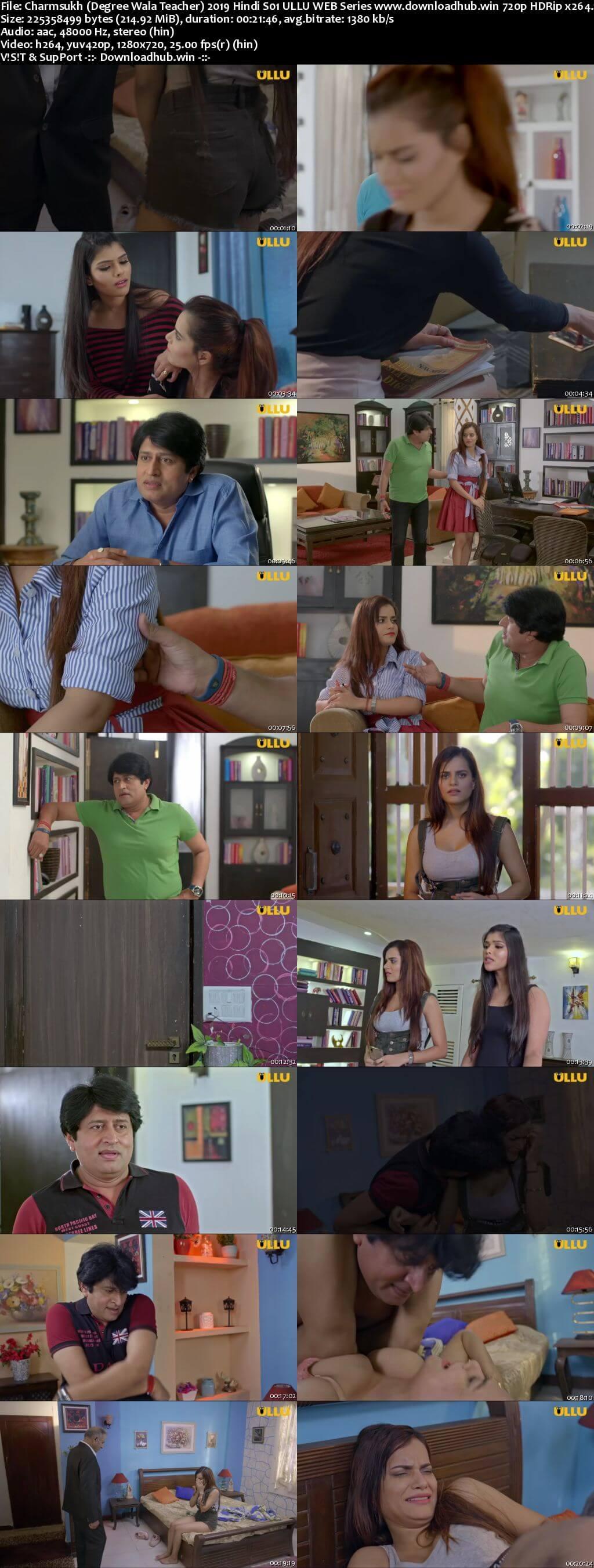 Charmsukh (Degree Wala Teacher) 2019 Hindi S01 ULLU WEB Series 720p HDRip x264