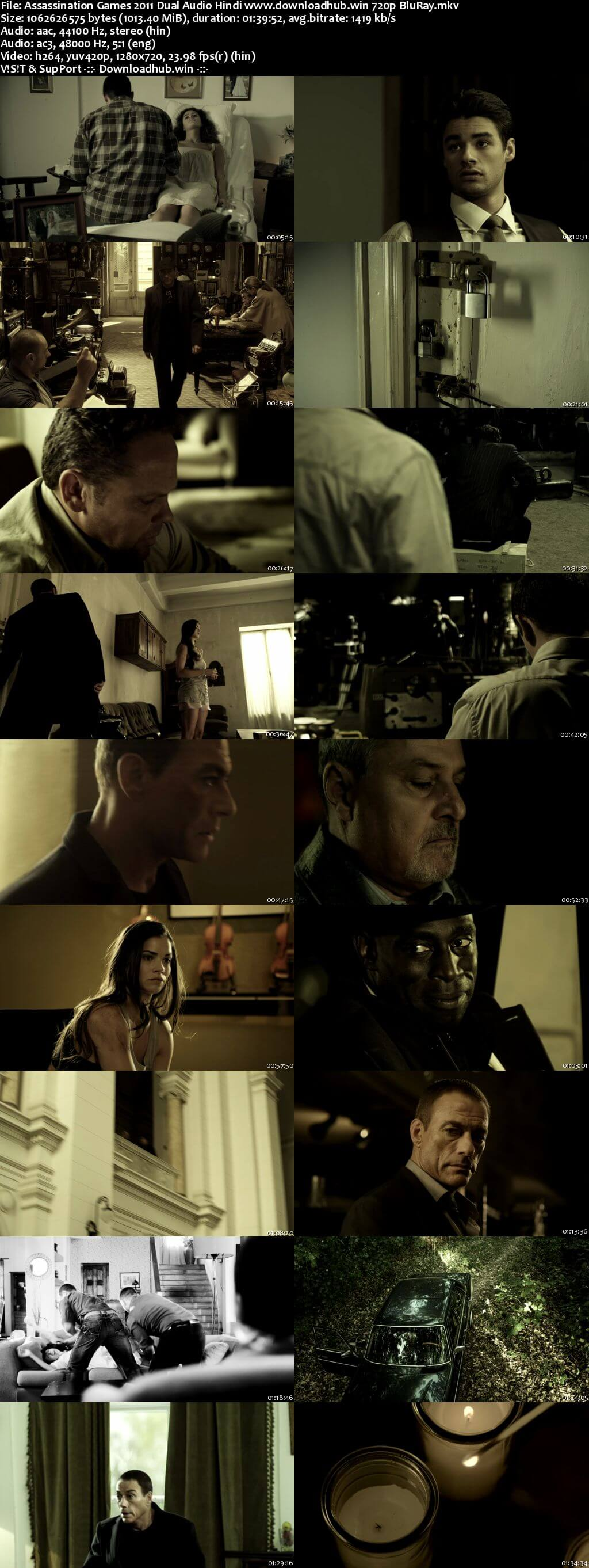 Assassination Games 2011 Hindi Dual Audio 720p BluRay ESubs