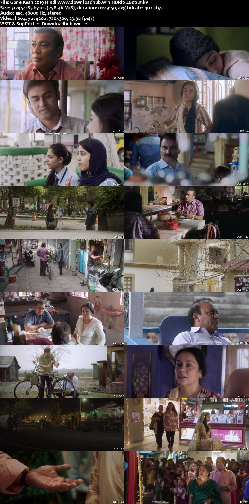 Gone Kesh 2019 Hindi 300MB HDRip 480p