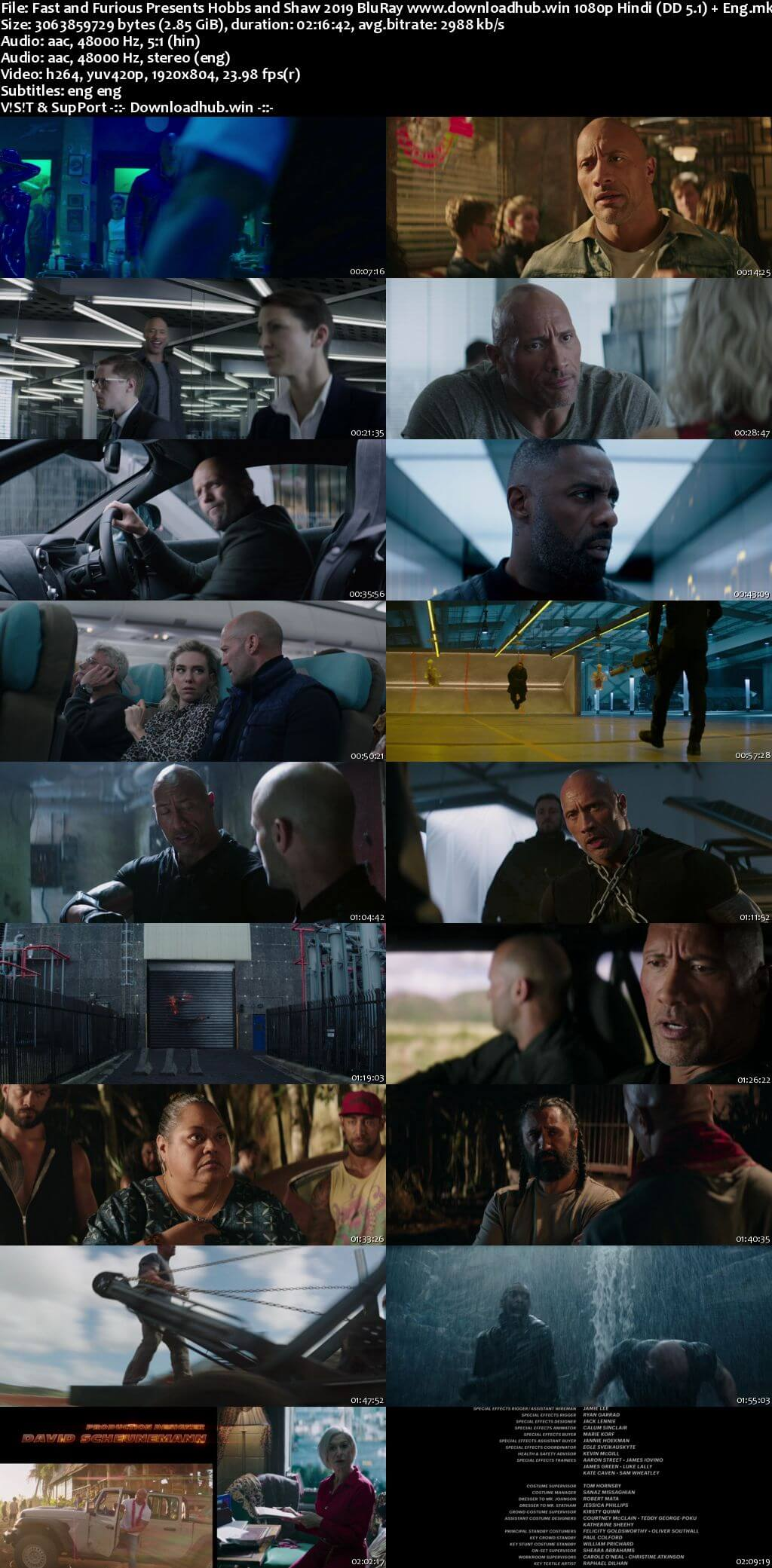 Fast And Furious Presents Hobbs And Shaw 2019 Hindi ORG Dual Audio 1080p BluRay ESubs