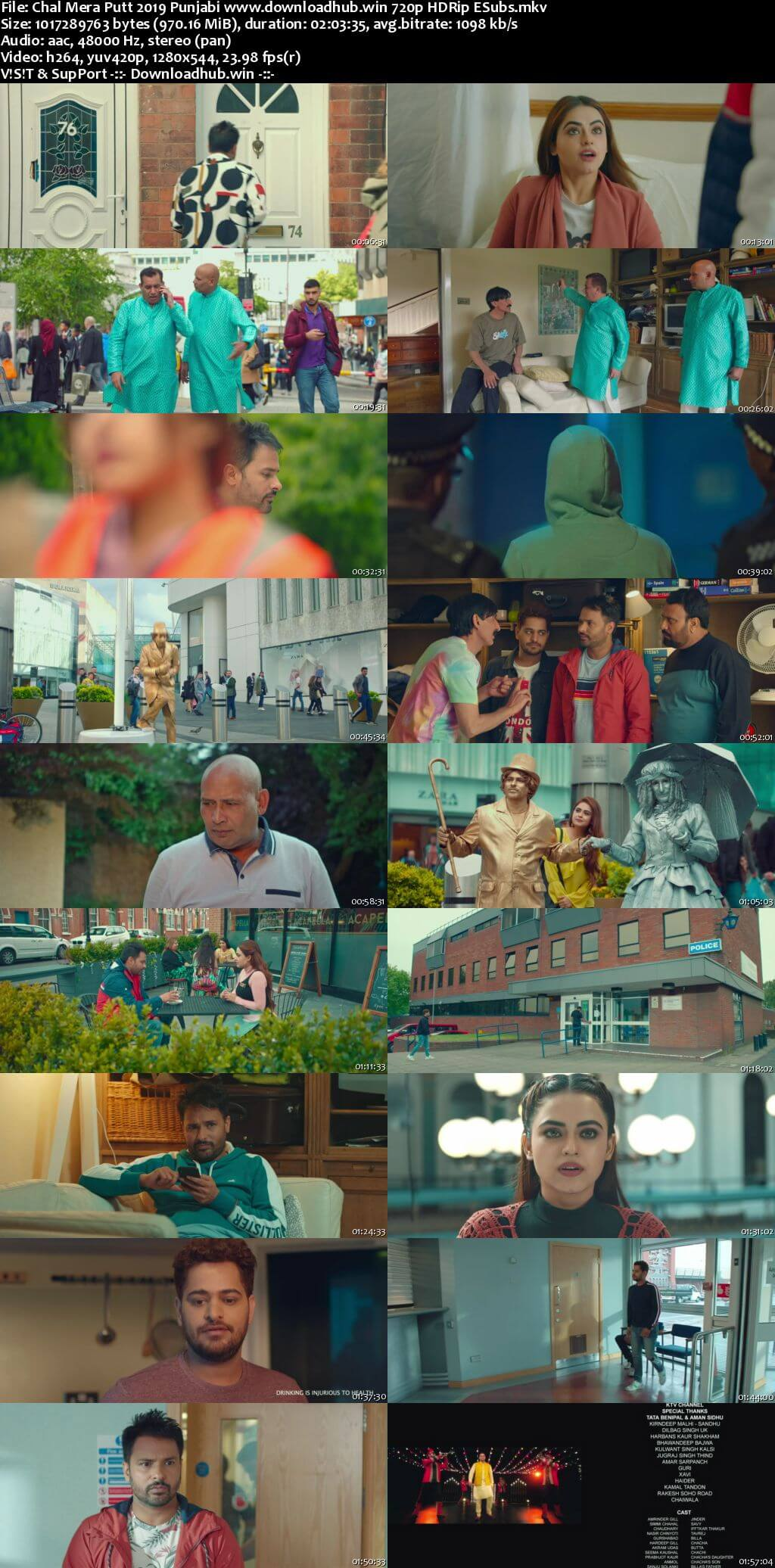 Chal Mera Putt 2019 Punjabi 720p HDRip ESubs