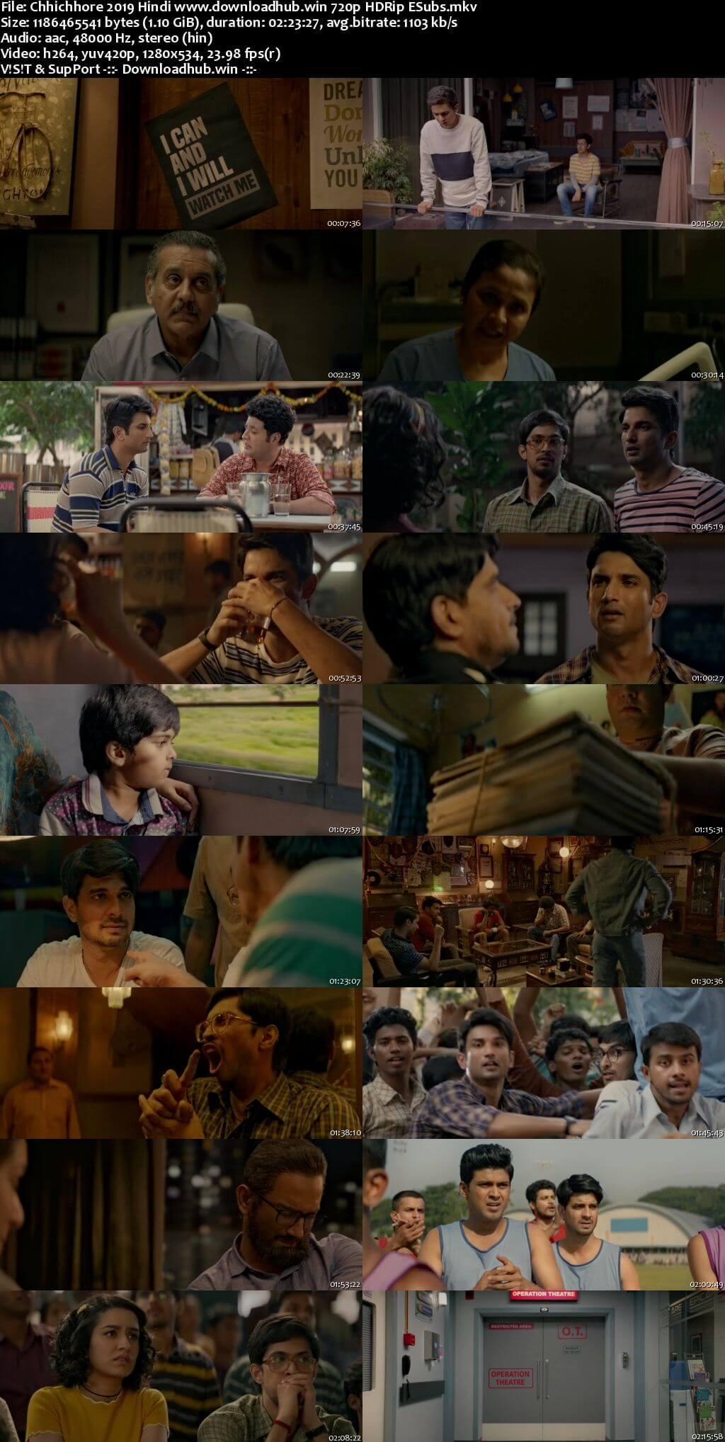 Chhichhore 2019 Hindi 720p HDRip ESubs